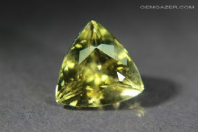 Heliodore Beryl, faceted, Brazil.  6.66 carats.